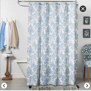 Threshold Blue Floral Shower Curtain